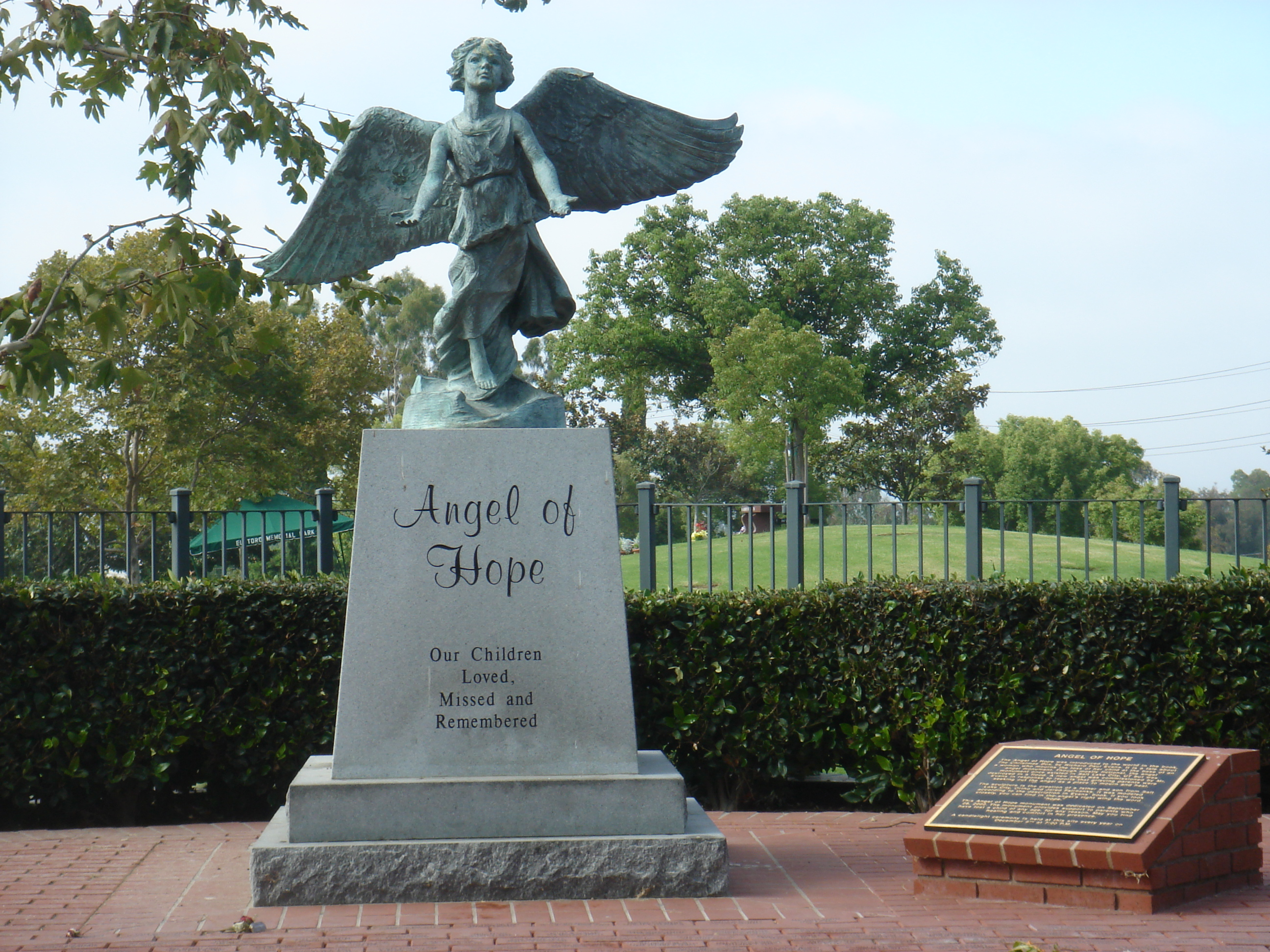 Photo of Angel of Hope Statue