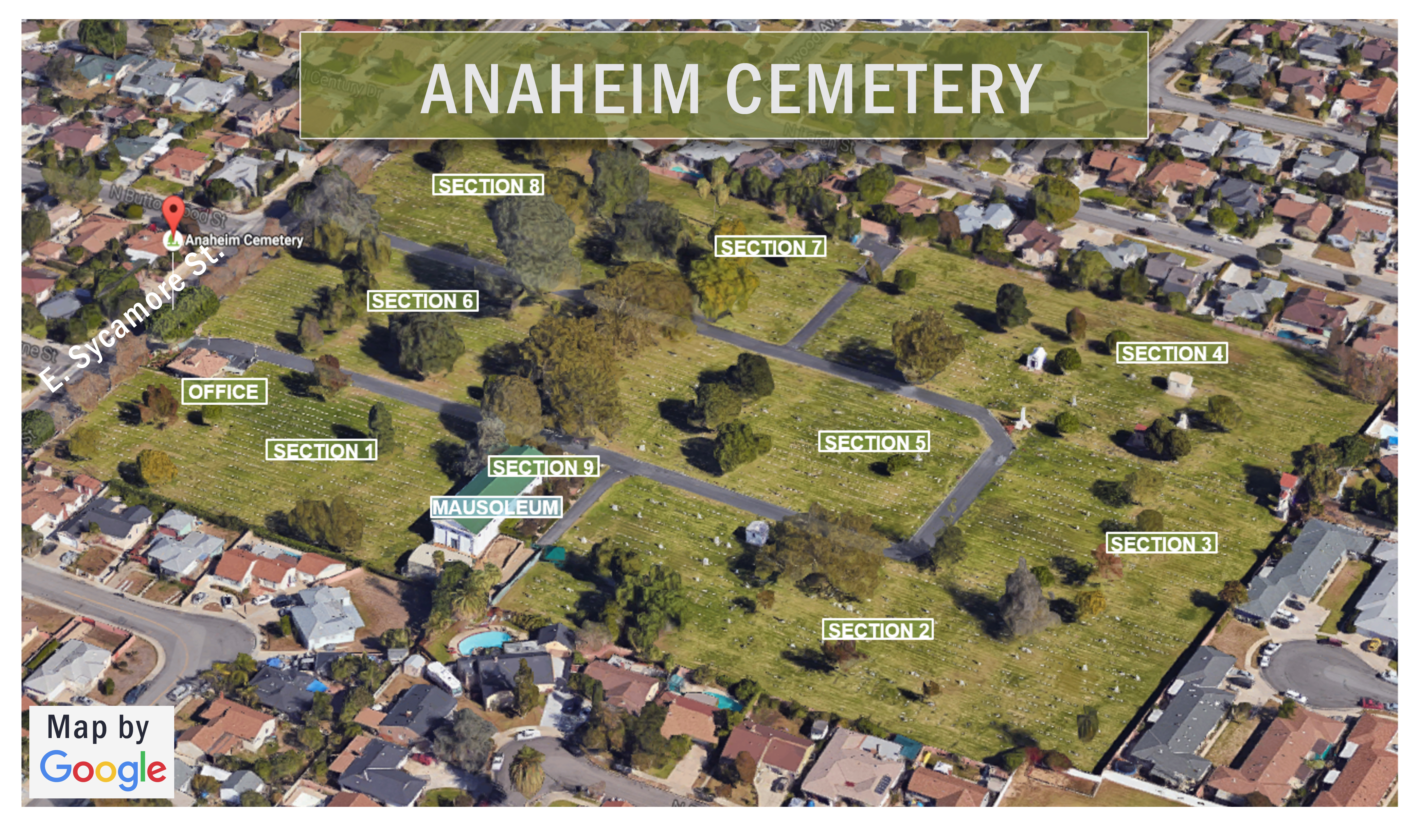 this links to a color map of Anaheim cemetery