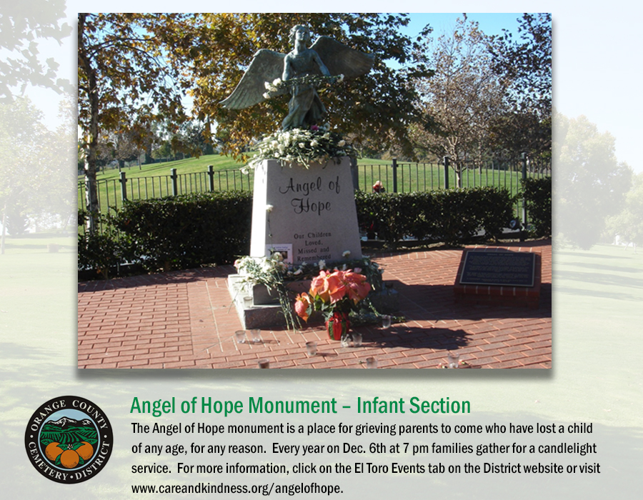 Angel of hope Monument - Infant Section