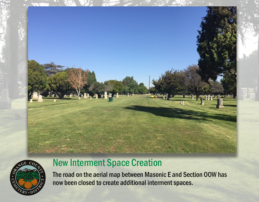 New Interment Space Creation