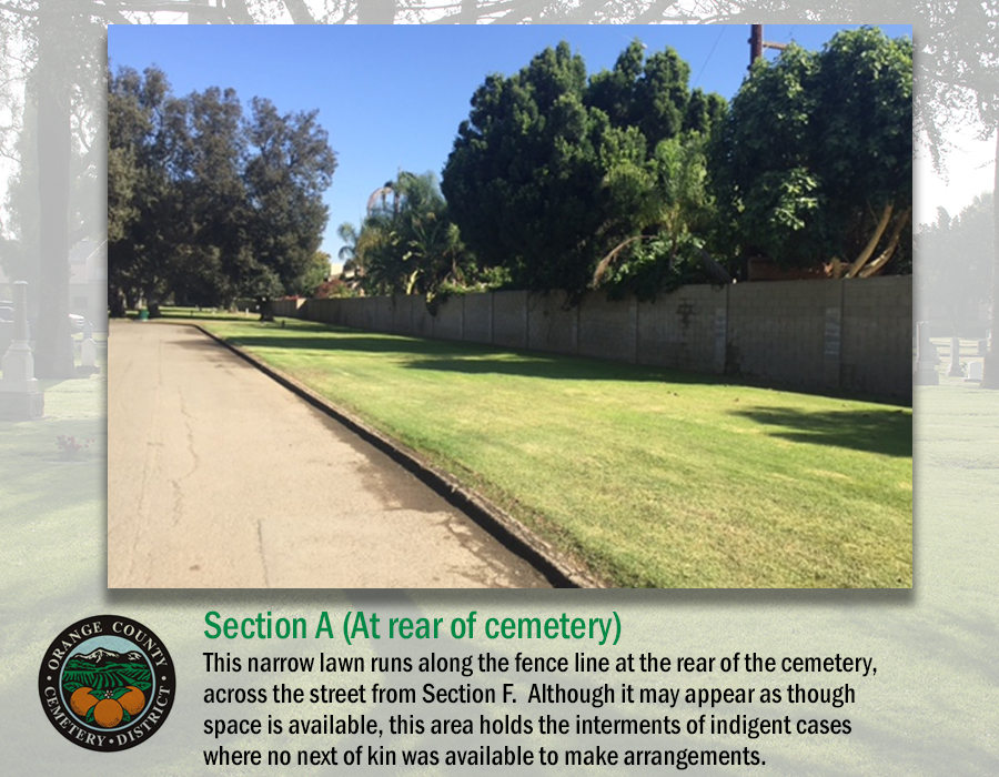 Section A (At rear of cemetery)