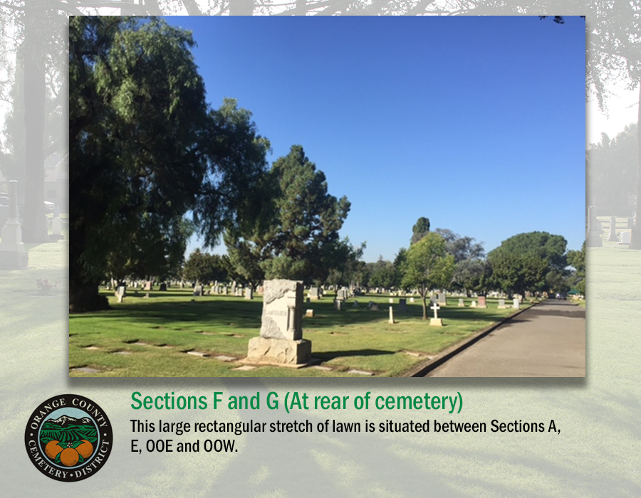 Sections F and G (At rear of cemetery)