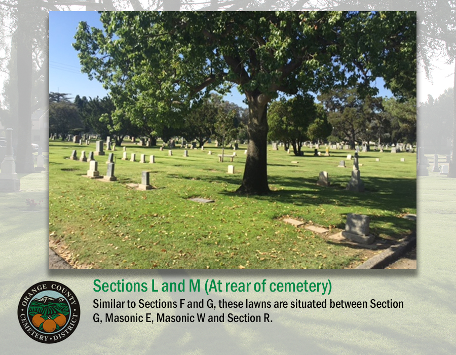 Sections L and M (At rear of cemetery)