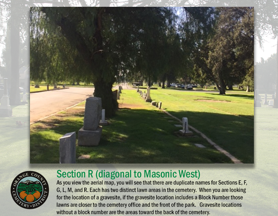 Section R (diagonal to Masonic West)