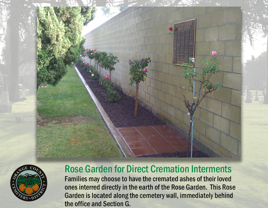 Rose Garden for Direct Cremation Interments